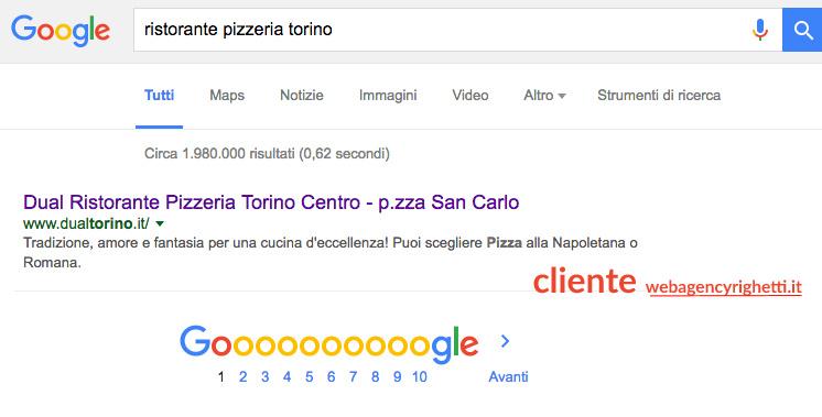 sito web ristorante torino