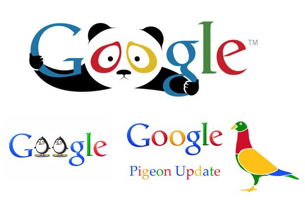 algoritmi google Panda, Penguin, Hummingbird
